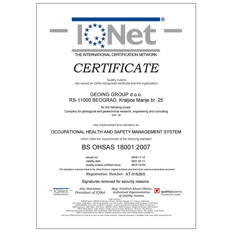 Certificates - Geoing Group Certificates